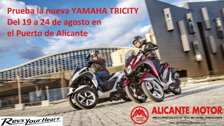 Prueba Yamaha Tricity Alicante